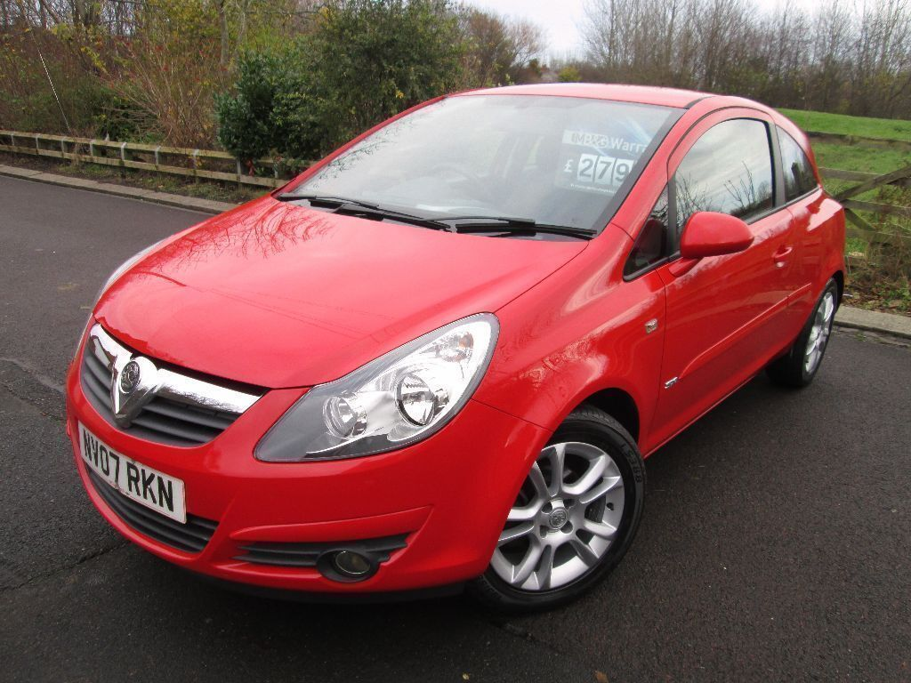 vauxhall corsa 1 2 sxi 3dr 2007 07 red in newcastle. Black Bedroom Furniture Sets. Home Design Ideas