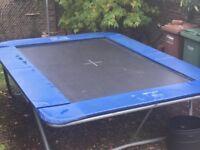 Supertramp King 110 large trampoline. 8ft x 12 ft.
