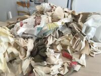 FREE Fabric off cuts from curtain making great for craft sewing projects