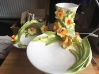 3 piece daffodil China set