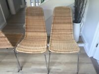 6 ikea dining chairs for sale. Would make a good refurb project