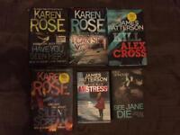 Mixed author thriller bundle.