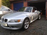 """Reduced for quick sale"" BMW Z3 Metalic Silver Full Red Leather Interior"