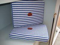 Seat Outdoor Sport Cushions, Pair Designer, NEW - Practical & Comfortable