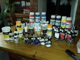Artists acrylic paints etc job lot