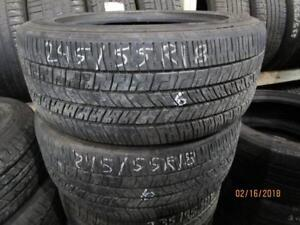 245/55R18 4 ONLY USED GOODYEAR ALL SEASON TIRES