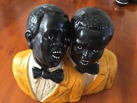 Two jazz singers ornament.