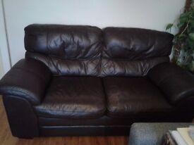 2 seater sofa - Aldiss dark brown leather