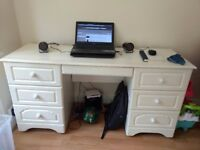 White dresser/computer table for sale.