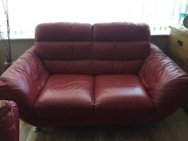 Set of sofas - 3 seater, 2 seater, 1 seater and puffet