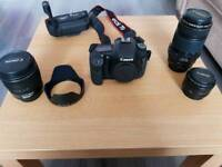 Canon 7d mk1 with lenses and accessories