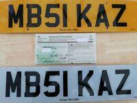 Cherished number plates