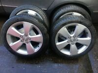 2014-15 Audi A3 ALLOY WHEELS WITH TYRES 225/45R17