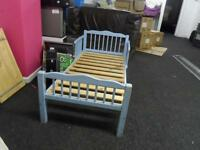 CHILDRENS BABY SINGLE BED BASE BLUE & BROWN VERY SOLID STRONG EXCELLENT CONDITION ECCLES M30 0WX