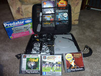 SONY PLAYSTATION COMPLETE WITH CASE AND ALL ASSOCIATED EQUIPMENT