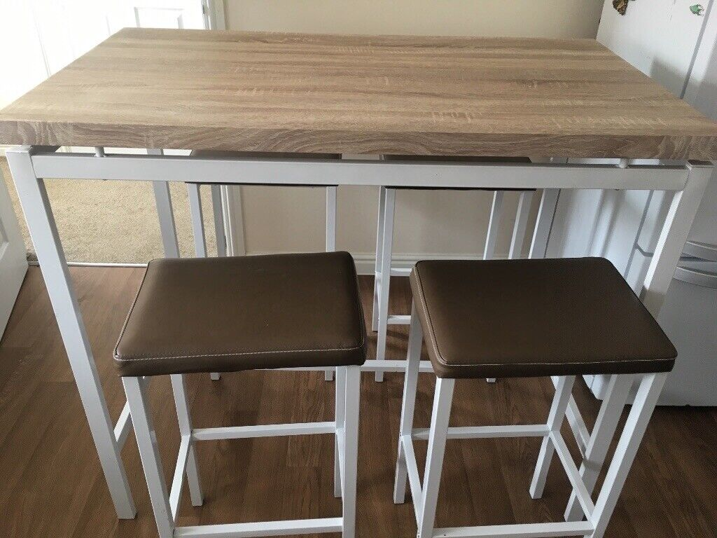 b1712143dd27 Breakfast Bar with 4 stools VGC Dining table Dining room £65 or sensible  offer