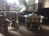 2 Chafing dishes .catering size stainless steel.