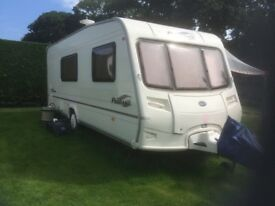 Bailey Pageant Champagne 2005 model with full dorema awning