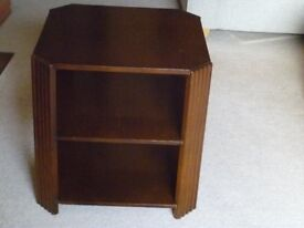 Nineteen fifties vintage occasional table. Stained wood. Deco? Up-cycling project?