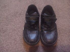 Clarks black and silver boys trainers size 13f