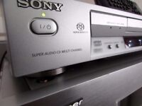 SONY DVP-NS705V SUPER AUDIO SACD HYBRID 5.1 CD DVD DISC PLAYER + Remote Control