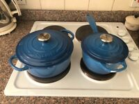 Le Creuset Signature Cast Iron Casserole Pot Marseille Blue 20cm RRP £169