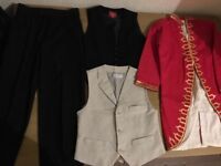 Boys formal clothing, Mozart costume, assorted clothing.