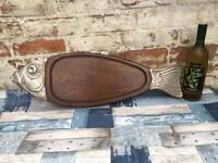 French vintage fish serving board