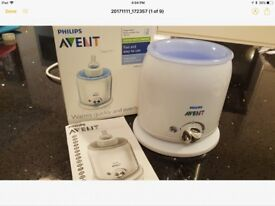 Philips avent bottle warmer with box and instructions