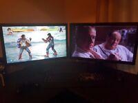 2 x BenQ GL2450 1080p Full HD Monitors