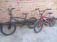 TWO BMX BIKES FOR SALE,£50 THE PAIR.RETFORD 01777 948093.