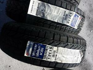 BRAND NEW WITH LABELS HIGH PERFORMANCE BF GOODRICH 195 / 65 / 15 WINTER TIRE SET OF FOUR.