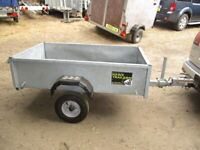 5-4 X 3-3 GALVANISED STEEL GOODS TRAILER WITH DROPTAIL....