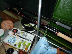 All you need to go Course Fishing, equipment for sale.