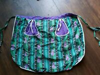 Vintage retro pinny double sided