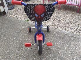Kids spiderman bike