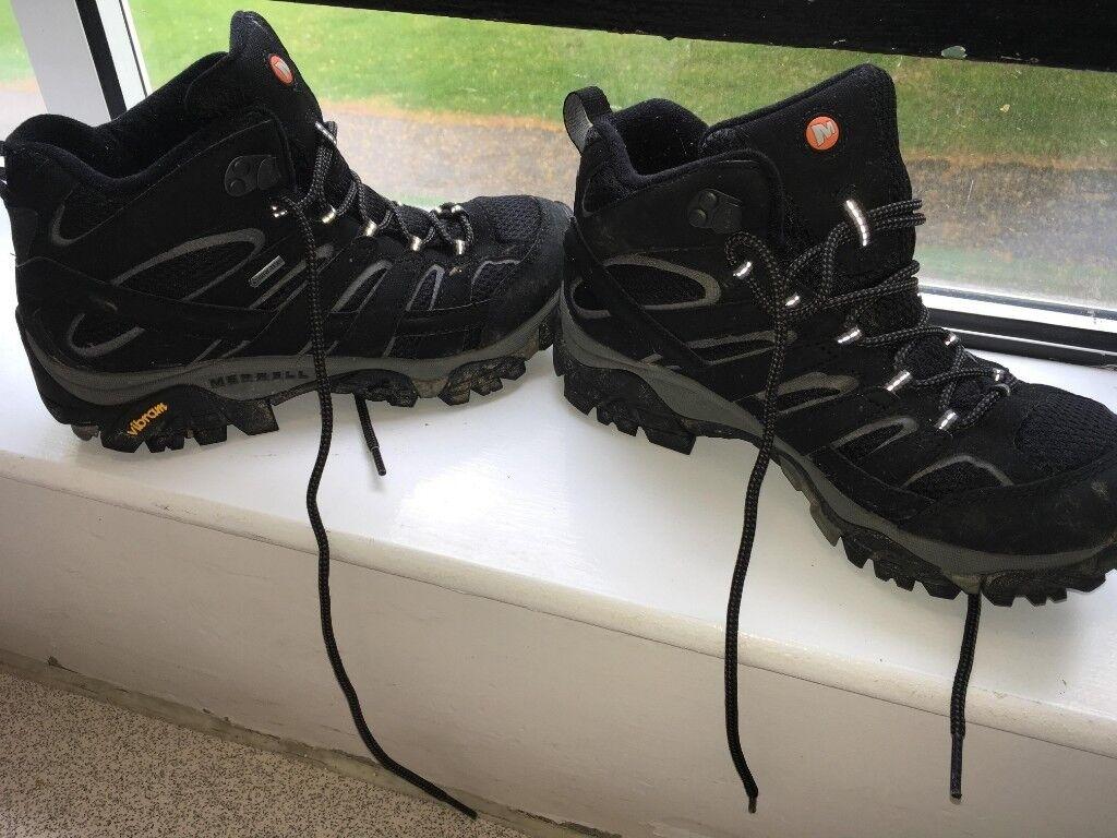 942c6c20717 Merrell Women's Moab 2 Mid Goretex High Rise Black Vegan Hiking Boots Size  5.5 | in Stoke Bishop, Bristol | Gumtree