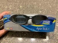 'Zoggs' Swimming Goggles Black Aqua Tech+ (Adult) *** Brand New in the box ***