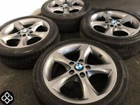 "NEW GENUINE BMW 17"" ALLOY WHEELS & TYRES - 5 X 120 - 205 50 17 - GRAPHITE GREY - Wheel Smart"