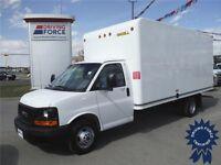 2014 GMC Savana 3500 16 ft Cube Van - AMVIC Inspected, CVIP Done