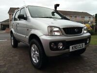 Daihatsu Terios 1.3 Sport 4x4, prepped for green laning, long Mot, 2 tone leather, 2004.