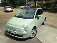 FIAT 500 LOUNGE . CITY DRIVE. PANAROMIC ROOF. FULL 1 YEAR MOT. EXCELLENT DRIVE