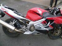 2004 Honda CBR600F4 damaged repairable CAT N 20k may break for parts