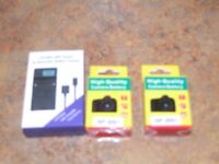 SONY CYBERSHOT CHARGER AND BATTERYS