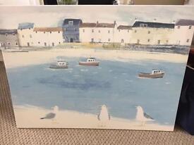 Next seaside canvas print