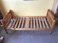 Single bed pine wooden frame - no mattress