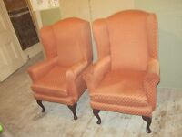 Queen Anne Wing Chairs