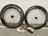 ZIPP 404 FRONT AND 808 REAR FIRECREST CARBON TUBULAR WHEELSET - £1900 WHEELS