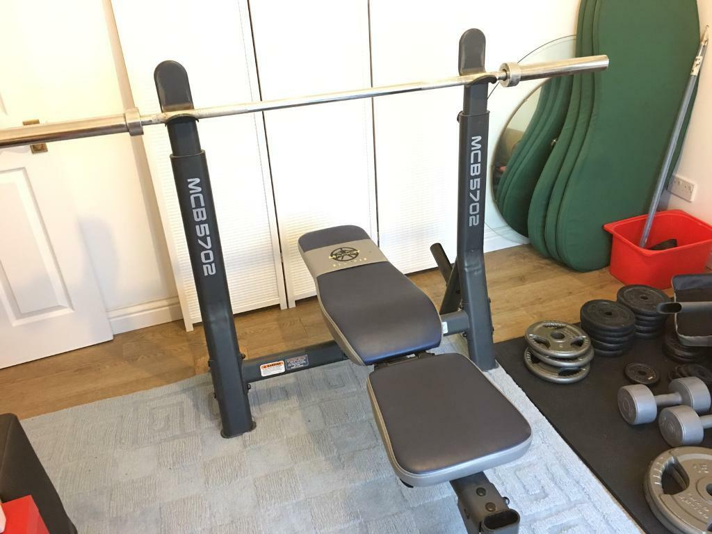 Full Home Gym Adjustable Bench Press Squat Rack 6ft Olympic Barbell Weight Plates Dumbbell