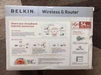 Belkin Wireless G Router - NEW, sealed. ADSL/Cable Modem